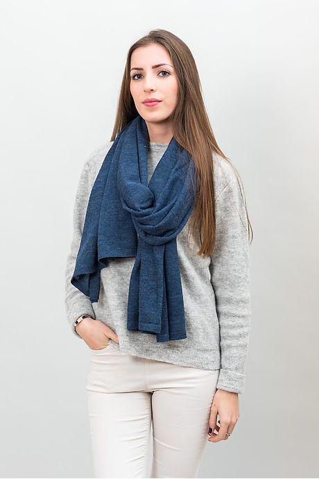 Metaalblauw Calanca Alpaca Sjaal