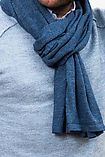 Echarpe Alpaga Calanca Bleu Métallisé
