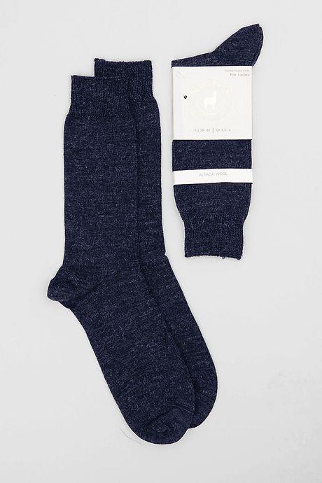 Marineblaue Pitana Alpaka Socken