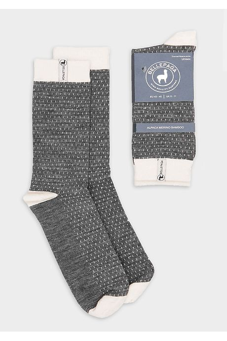 Graue/Weiße Wira Alpaka Socken