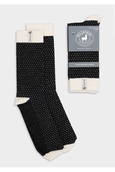 Black/White Wira Premium Alpaca Socks