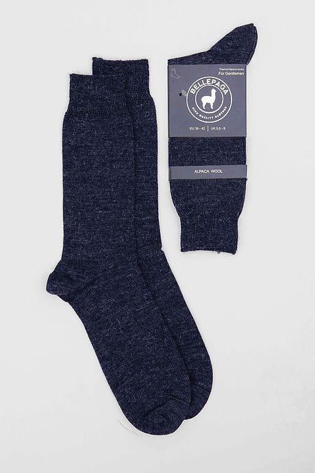 Navy Blue Pitana Alpaca Socks