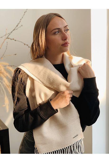 Gele/Witte Quawana Alpaca Sjaal