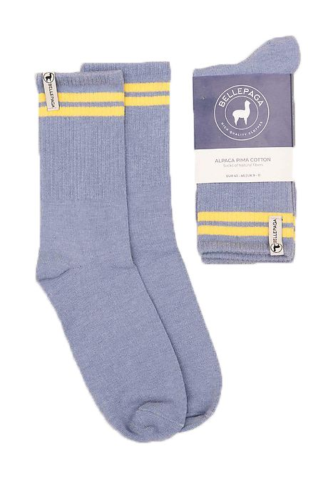 Grey/Light Blue Yaku Alpaca Socks