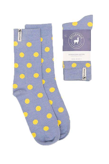 Grey/Navy Blue Challi Alpaca Socks