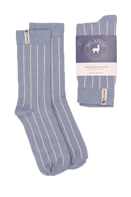 Lichtblauwe/Witte Maki Alpaca Sokken