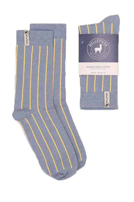 Light Blue/White Maki Alpaca Socks