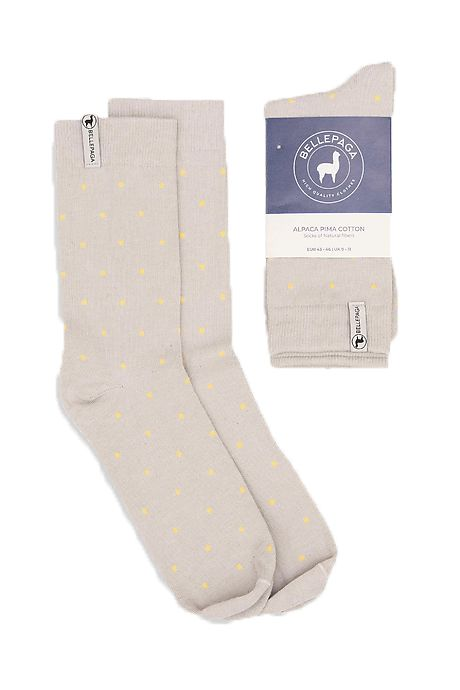 Graue/Gelbe Hanchi Alpaka Socken